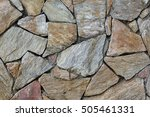 stone wall texture background... | Shutterstock . vector #505461331