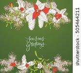 seasonal vector hand drawn...   Shutterstock .eps vector #505464211
