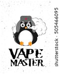 poster for vape shop with... | Shutterstock .eps vector #505466095