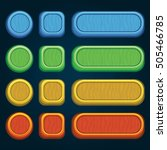 set of bright buttons for game... | Shutterstock .eps vector #505466785