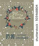 merry christmas   Shutterstock .eps vector #505468804