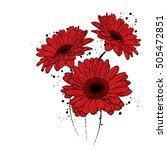 beautiful gerbera. vector... | Shutterstock .eps vector #505472851