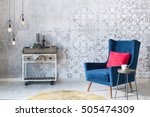 beautiful grey wall with... | Shutterstock . vector #505474309