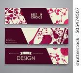 set of modern design banner... | Shutterstock .eps vector #505474507