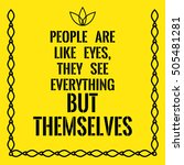 motivational quote. people are... | Shutterstock .eps vector #505481281