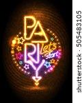 let s start party design mock... | Shutterstock . vector #505483105
