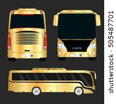 vector gold bus. gold new... | Shutterstock .eps vector #505487701