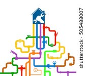 Colored Water Pipes Vector...