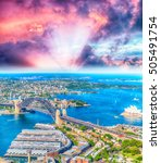 Amazing Aerial View Sydney Harbour - Fine Art prints