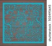 die cut card. laser cut vector... | Shutterstock .eps vector #505495645