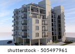 3d rendering of a building on a ...   Shutterstock . vector #505497961