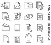documentation icons set  thin... | Shutterstock .eps vector #505507831