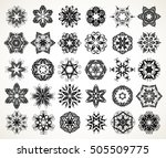 set of ornate lacy doodle... | Shutterstock .eps vector #505509775