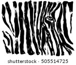 abstract painted zebra pattern...