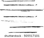 set of grunge lines. isolated... | Shutterstock .eps vector #505517101