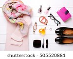 fashionable women's clothes on... | Shutterstock . vector #505520881
