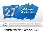 27th Anniversary Logo With Blu...
