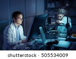 engineering team working in the ... | Shutterstock . vector #505534009
