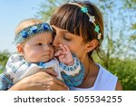 adorable tender portrait of a... | Shutterstock . vector #505534255