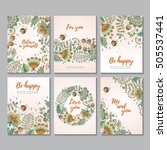 set of six vector vertical... | Shutterstock .eps vector #505537441