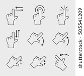 touch gesture vector icons | Shutterstock .eps vector #505541209