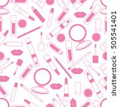 seamless pattern of different... | Shutterstock .eps vector #505541401