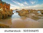 knysna heads sunset  rocks... | Shutterstock . vector #505544695