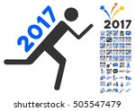 2017 courier pictograph with... | Shutterstock .eps vector #505547479