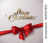 merry christmas. holiday vector ...   Shutterstock .eps vector #505547851