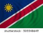 namibian national official flag.... | Shutterstock . vector #505548649