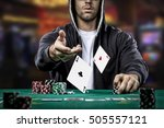 poker player showing a pair of... | Shutterstock . vector #505557121