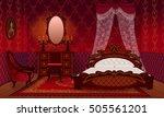 bedroom cartoon interior house... | Shutterstock .eps vector #505561201