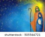 christmas religious nativity... | Shutterstock . vector #505566721