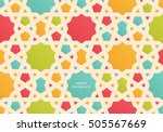 abstract colorful islamic... | Shutterstock .eps vector #505567669