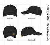 cap template set  front  side ... | Shutterstock .eps vector #505568827