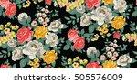 classic wallpaper seamless... | Shutterstock .eps vector #505576009