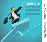 successful businessman riding a ... | Shutterstock .eps vector #505577779