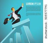 successful businessman riding a ... | Shutterstock .eps vector #505577791