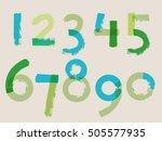 handwritten style numbers  ... | Shutterstock .eps vector #505577935
