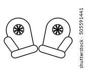 mittens santa icon. outline... | Shutterstock .eps vector #505591441
