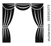 curtain on stage icon. simple... | Shutterstock .eps vector #505592575
