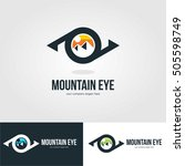 vision eye mountain logo... | Shutterstock .eps vector #505598749