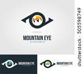 vision eye mountain logo... | Shutterstock .eps vector #505598749