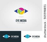 vision eye logo template emblem | Shutterstock .eps vector #505598851