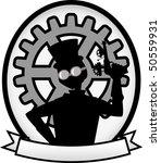 silhouette steampunk man gray... | Shutterstock .eps vector #50559931