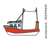 isolated fishing boat design | Shutterstock .eps vector #505599649
