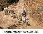 shepherd on sland of the sun ... | Shutterstock . vector #505606201