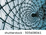 structural glass facade curving ... | Shutterstock . vector #505608061