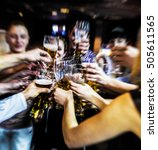 blurred image. group of best... | Shutterstock . vector #505611565