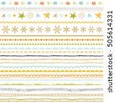 seasonal ornaments. doodle... | Shutterstock .eps vector #505614331